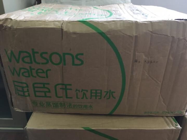 屈臣氏(Watsons) 饮用水(蒸馏制法)400ml *24瓶 整箱 晒单图
