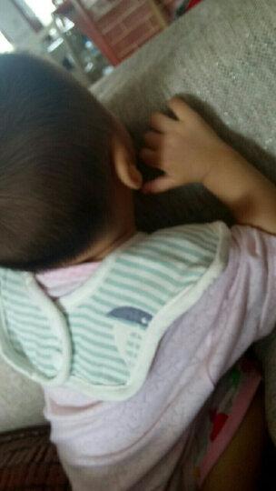 【京东送货】婴儿围嘴纯棉纱布饭兜宝宝罩衣防溅衣透气吸水口水巾围兜 六角围兜(三件套) 晒单图