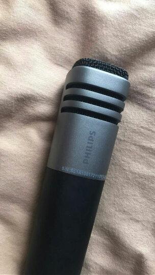 飞利浦(PHILIPS)全民k歌手机麦克风 话筒手机k歌唱吧麦克风 话筒苹果唱歌 主播直播话筒 DLK38001铁灰色 晒单图