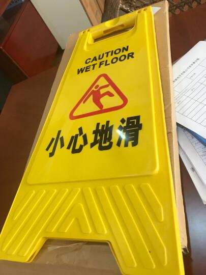 安马(Amausa)A字型车位停车提示警示牌防摔塑料折叠 小心地滑 黄色 晒单图