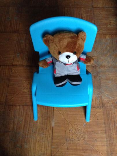 申永幼儿园桌椅 幼儿园椅子幼儿园椅子 塑料板凳子小靠背椅 大号蓝色 晒单图