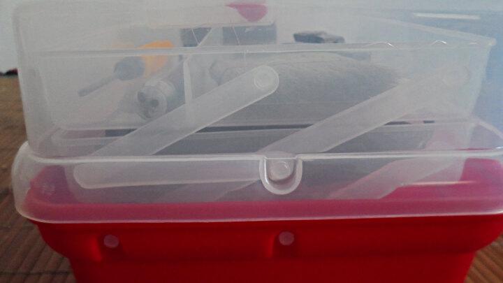 易耐特美术工具箱三层工具箱画画美甲国画工具箱手提式透明收纳箱工具盒多功能美术工具收纳盒透明塑料美术箱 透明 13英寸,长31*宽17*高14cm 晒单图
