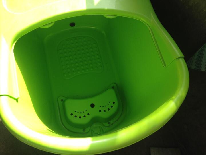 洗澡桶成人浴盆浴缸泡澡桶塑料沐浴桶 绿色+蒸汽锅 晒单图