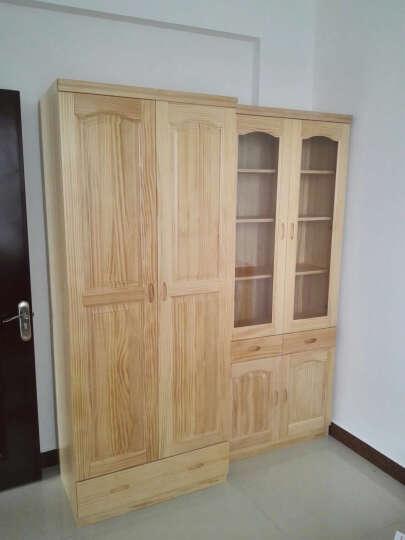 纽菲乐 实木衣柜 新西兰松木家具 木质衣柜 1.2 1.6米衣橱带抽 两三四门衣柜 全实木 两门0.8米衣柜(五包价) 晒单图