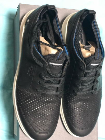 ECCO爱步透气休闲鞋户外运动鞋青年时尚男鞋 转变534804 黑色53480402001 41 晒单图