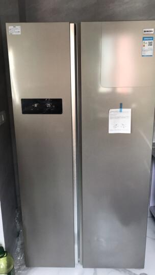 冰松(BINGSONG) BCD-516W电冰箱对开门家用定频超薄风冷无霜双门 516L冰河银 晒单图