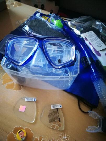 TOPIS防雾平光/近视潜水镜 浮潜三宝套装 全干式呼吸管+潜水面镜 男女冲浪装备浮浅用品 M2011+S198透黑色 晒单图