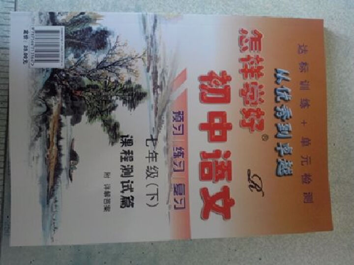 怎样学好初中语文 助读自读精读 课程辅导篇&课程测试篇 七年级 下册 R 人教版 晒单图