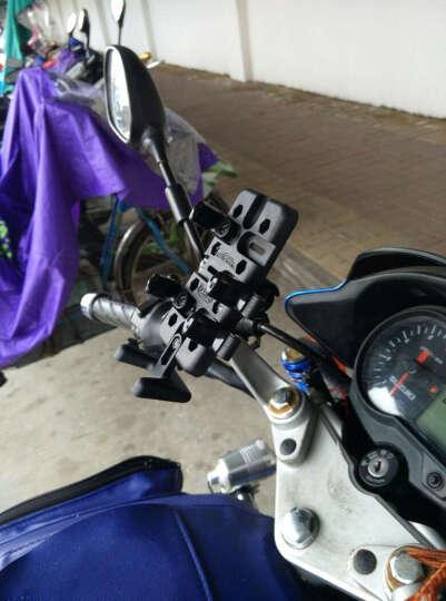 SMNU十玛摩托车手机支架对讲机苹果三星小米踏板车电瓶车山地车铝合金车载USB充电器装备 歪嘴后视镜安装底座充电版 晒单图