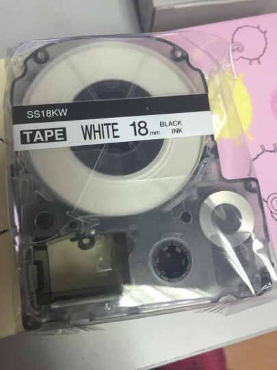 普贴PUTY 爱普生,锦宫标签色带,KINGJIM标签,标签打印机碳带SR230CH标签 SC12GW 晒单图