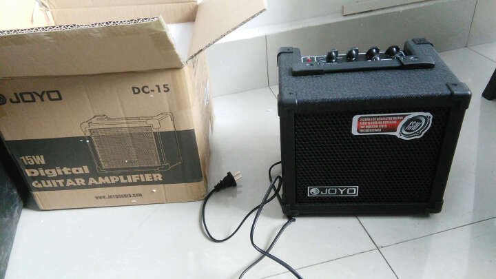 JOYO 卓乐 DC15 DC30电吉他音箱 14种效果器鼓机便携音响 DC-15音箱(15W) 晒单图