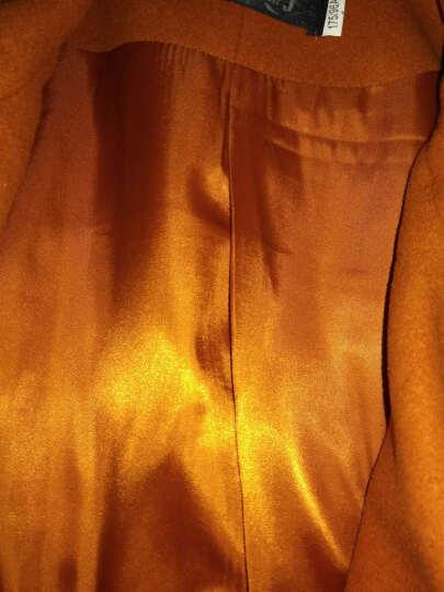 舒美仟娇 中年女装秋装毛呢外套 2017新款中老年女装妈妈装秋款呢子大衣中长款上衣 虾青色 L/170 晒单图