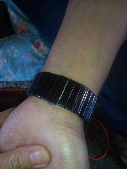CARTY 卡蒂陶瓷表带 陶瓷 手表配件 雷达 rado 黑金刚 表带 黑 整体陶瓷系列 白色 27mm 晒单图