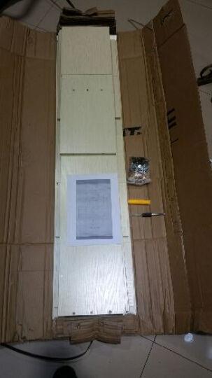 简易书柜书架学生柜书橱自由组合书架储物柜小书柜 D款柚木色 晒单图