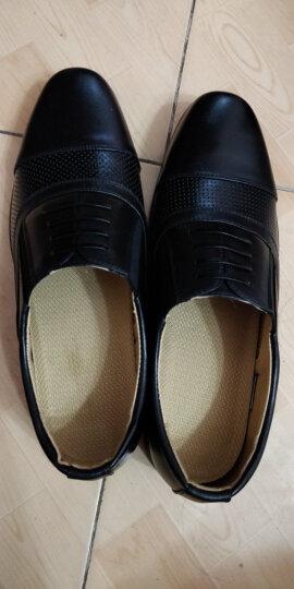 正装07B三接头皮鞋07A制式三尖头男镂空皮鞋凉鞋男警 夏季镂空款 39 晒单图