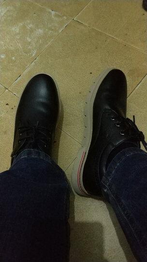 七匹狼(SEPTWOLVES)商务休闲鞋英伦风男鞋休闲板鞋 黑色 40 晒单图