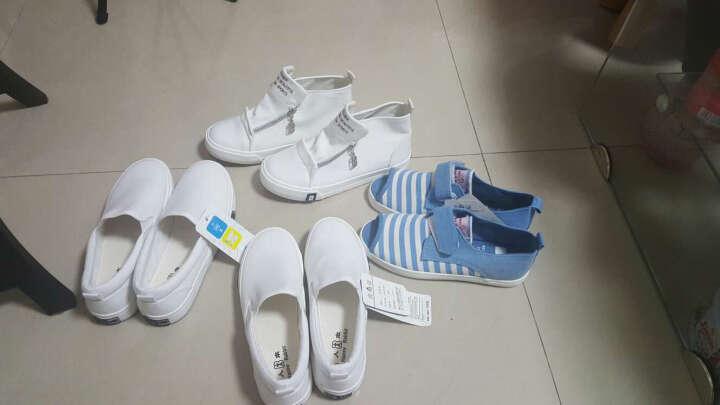 人本童鞋鱼嘴帆布鞋女童低帮单鞋透气儿童凉鞋 浅蓝 34 晒单图