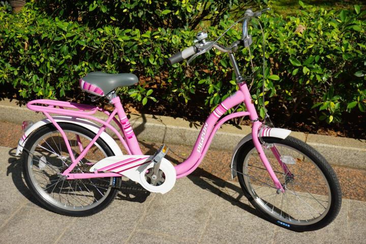 飞鸽自行车20寸复古淑女通勤轻便自行车梦里水乡 淡蓝色 晒单图