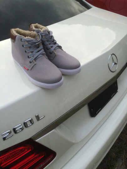策乐(CELE)男鞋休闲鞋 户外运动板鞋 男士帆布鞋休闲皮鞋 乐福鞋 C36/黑色 40 晒单图
