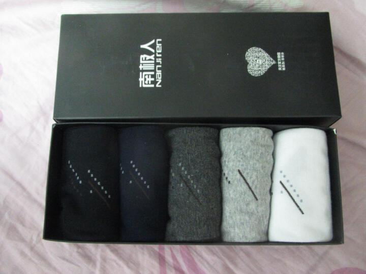 南极人(Nanjiren)休闲斜条纹棉袜子男士袜子纯色中筒透气吸汗袜5双 礼盒装 均码 晒单图