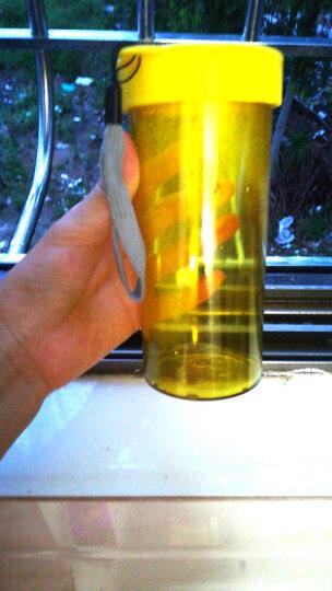 创意防漏塑料水杯 男女便携学生随手杯 户外运动水壶 太空杯 儿童茶杯子 黄色 晒单图