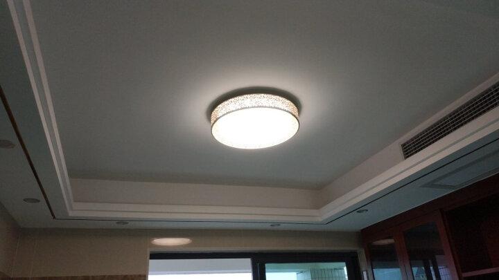 松下(Panasonic)吸顶灯LED遥控调光调色客厅卧室灯具白色铁艺装饰框HHLAZ1808 晒单图