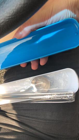拜格不锈钢便携式勺子筷子餐具套装 湖水蓝BX4916-A 晒单图