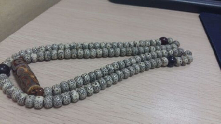 灵月阁原创设计九眼天珠星月菩提子项链108颗手串男女佛珠手链 8*6 晒单图