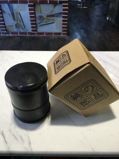 车上生活 汽车用品 车载烟灰缸 创意 汽车收纳 带LED灯 车用烟灰缸 个性 黑色 晒单图