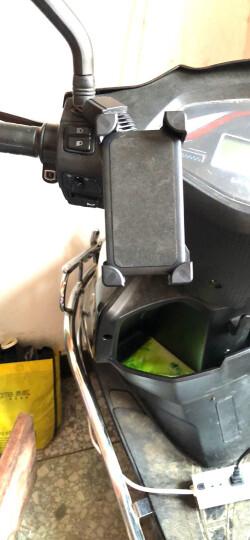 锐斯路REXWAY电动踏板车手机支架摩托车电瓶车送外卖导航架后视镜款通用 反光镜专用款 晒单图