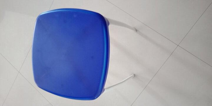 MeisilaiDeng美思来登凳子时尚创意彩色加厚家用餐厅简易椅餐椅高塑料餐方 蓝色 晒单图
