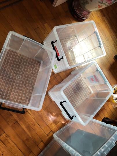 禧天龙Citylong 塑料收纳箱储物箱大号透明抗压加厚衣物整理箱玩具周转箱 透明白 45L 晒单图
