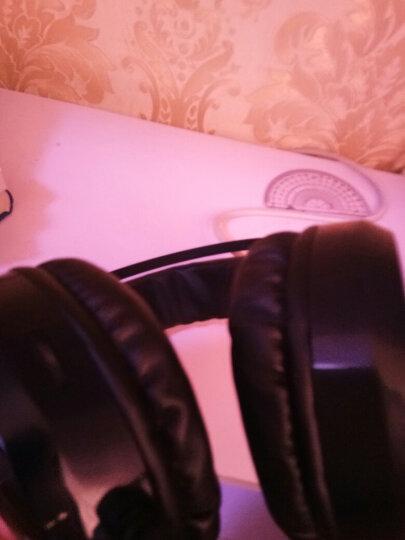 电脑耳机头戴式耳麦笔记本台式游戏吃鸡电竞网吧带麦克风话筒降噪手机音乐魔声耳机有线魔音7.1声道双插头 G1蓝色七彩光版 晒单图