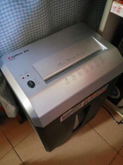齐心(Comix)S336 17L容量 8张/次 强力保密型粉纸机(5级保密静音设计 续航10min ) 晒单图