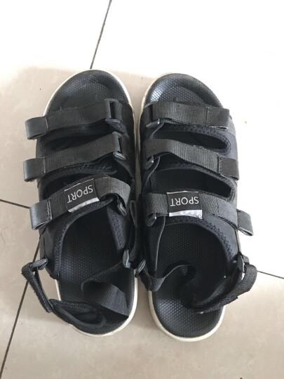 西马驼(XIMATUO)凉鞋男夏季新款沙滩鞋青年韩版凉拖鞋时尚户外编织休闲鞋 1314黑色 40 晒单图