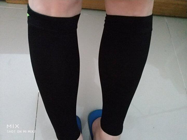 李宁 高弹力透气护腿护小腿 运动跑步 2只装 596-3  黑色透气护腿M码 晒单图