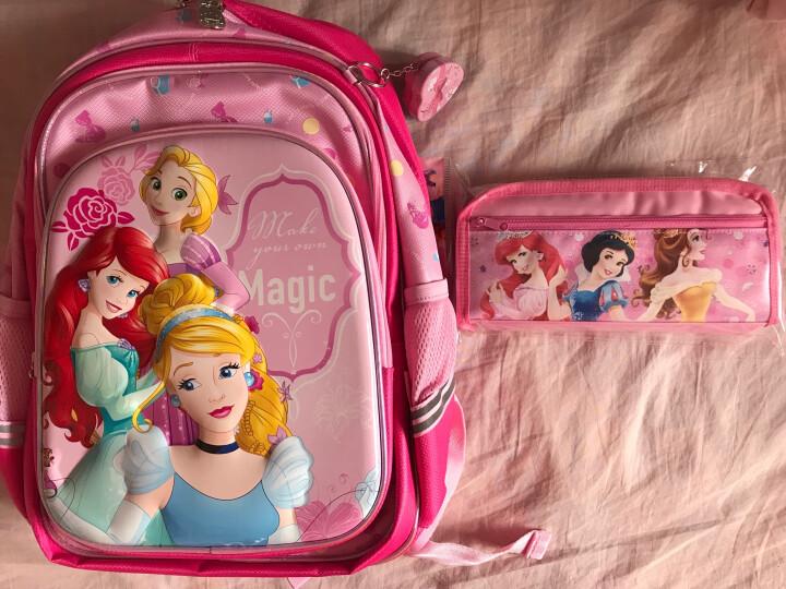 迪士尼(DISNEY)儿童书包女小学生书包女冰雪奇缘艾莎公主3D减负护脊双肩包 PB0397 蓝色 晒单图