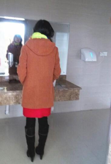 若男佳人中老年女装妈妈装秋装加厚毛呢大衣新款秋款中长款毛呢外套新品 卡其. 2XL 建议体重130斤 腰围两尺六左右 晒单图