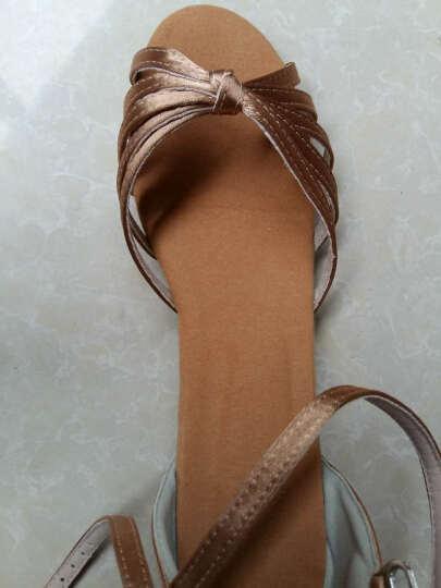 善然堂 拉丁舞鞋儿童女孩中高跟夏季舞蹈鞋女成人广场舞鞋跳舞凉鞋恰恰伦巴鞋子 深肤色 30 晒单图