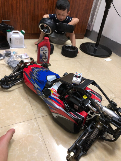 油动遥控车 1:5大型高速遥控汽油车RC燃油车 烧油四驱遥控越野车BAJA遥控沙滩车模型 模型标配版 晒单图