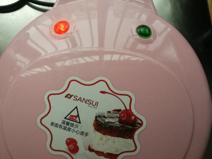 山水(SANSUI) 家用电饼铛双面加热蛋糕机家用全自动迷你卡通华夫饼机煎饼机SDG05 粉红色 晒单图