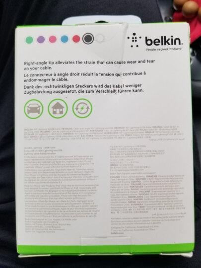 贝尔金(BELKIN)苹果MFI认证 Lightning接口充电线 适用于iPhoneXs Max/XR/X/8/7/iPad Pro 绿色 1.2米 晒单图