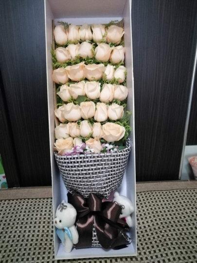 鲜花礼盒玫瑰【指定日期配送】 生日鲜花 19朵香槟玫瑰盒装 鲜花速递北京全国花店送花 19朵红玫瑰黑纱礼盒款式 晒单图