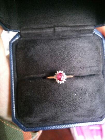 米莱 珠宝红宝石女戒指女 18K金镶嵌钻石鸽血红宝石戒指 戴妃款 1.12克拉 15个工作日定制 晒单图