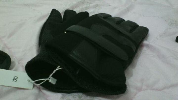 欧凡迪手套男冬保暖防滑骑行加厚加绒皮手套 B款红+黑 晒单图