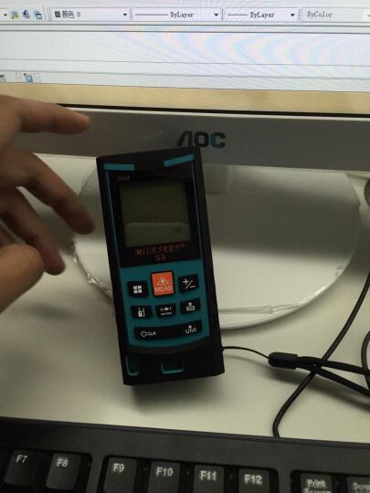 迈测S9 手持式激光测距仪电子尺激光尺水平仪电子测量仪量房仪  双水平气泡 40米蓝色 晒单图