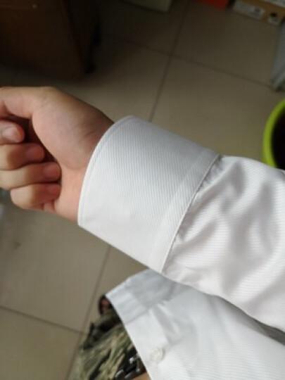 非凡领袖 长袖衬衫男2018秋季商务正装免烫衬衣修身休闲寸衫工作服纯白斜纹 纯白色-有口袋 41 晒单图