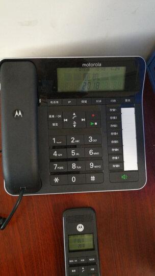 摩托罗拉(Motorola)C7001C数字无绳电话机/座机/子母机通话录音中文显示免提家用办公一拖一固定座机(黑色) 晒单图