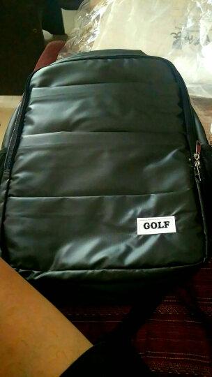 高尔夫GOLF双肩包男女士防水电脑包潮男双肩背包大容量14英寸笔记本包学生书包 款式1黑色 晒单图