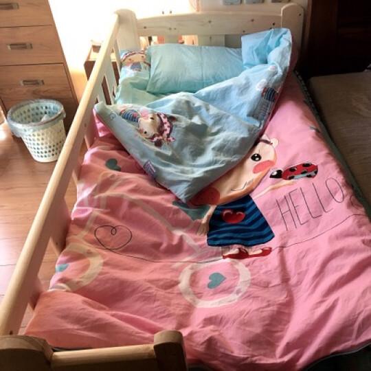 艺被儿童被子幼儿园被褥被套小孩午睡小学生午托套被幼儿园三件套棉花冬被被子母被三件套全棉被子 快乐星球-蓝(可定做床褥尺寸) 三件套+子母被(1+2斤)+枕头+床垫(1.5斤) 晒单图
